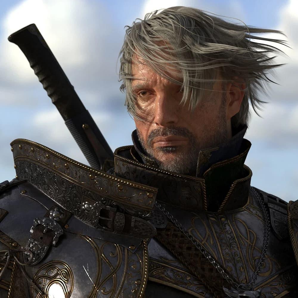 L'image du jour : Mads Mikkelsen en Geralt de Riv par un artiste 3D de talent