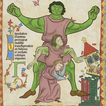 Quand le manuscrit médiéval revisite  la pop culture avec humour et enluminures