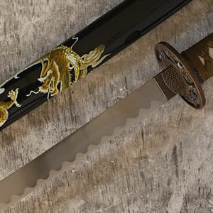 Katana de décoration « Dragon joueur »