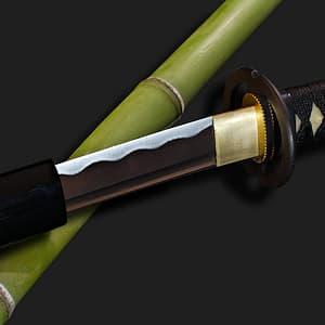 Katana aiguisé noir Miyamoto Musashi 宮本 武蔵